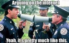 arguing on the internet