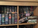 One shelf of my TV DVDs