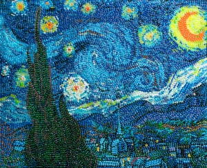 Starry Night in Jellybeans sourced from http://10000likes.blogspot.com.au/2011/04/jelly-belly-jelly-bean-art-opens-at.html