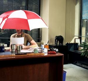 unbrella indoors