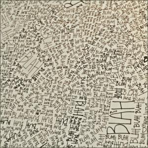 """Détail de """"Blah, blah, blah"""" du studio Louise Campbell (Maison d"""