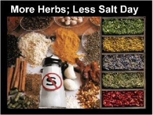 more herbs less salt