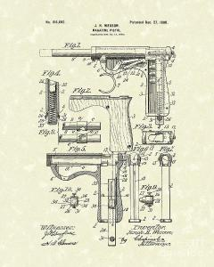 wesson-pistol-1898-patent-art-prior-art-design