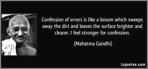 gandhi quote confession