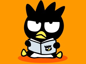 badtz-maru-reading-books