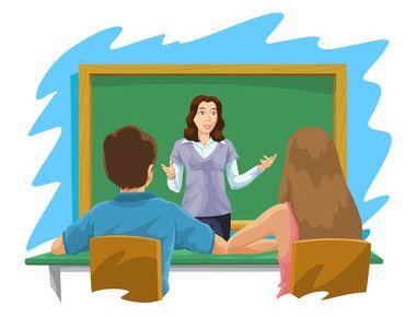 students-listening-to-teacher-cartoon