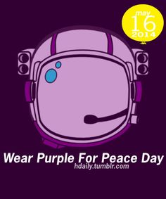wear purple for peace