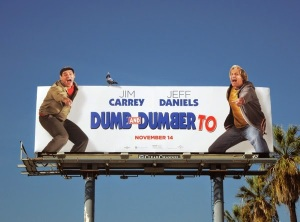 Dumb and Dumber To pigeon movie billboard