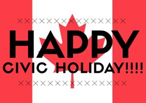Happy Civic Holiday