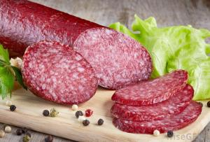 salami-on-wooden-slab