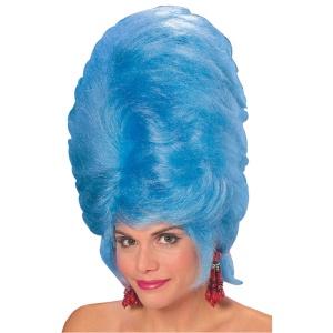 60s_beehive_wig_blue