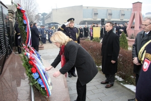 Wreath laying at the Monument for fallen soldiers of the RS Army
