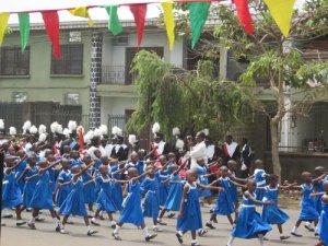 children-marching